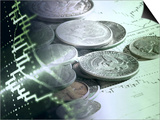 Stock Chart and Coins Montage Posters