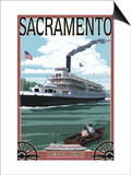 Delta King Riverboat - Sacramento, CA Posters by  Lantern Press