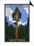Trees of Mystery - California Redwoods Prints by  Lantern Press