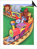 Train with Traveling Circus Poster