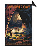 Lava River Cave - Lava Lands, Oregon Prints by  Lantern Press
