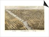 Grand Rapids, Michigan - Panoramic Map Prints