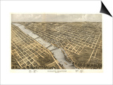 Grand Rapids, Michigan - Panoramic Map Prints by  Lantern Press