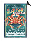 Alaska King Crab Posters by  Lantern Press