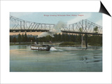 Albany, Oregon - Paddle Boat Crossing Willamette River Art by  Lantern Press