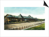 Saratoga Springs, New York - Race Course Grand Stand View Prints by  Lantern Press