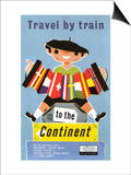 Travel by Train to the Continent, Southern British Railways Prints
