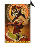 Dia De Los Muertos Marionettes - New Orleans, Louisiana Prints by  Lantern Press