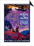 La Route Des Alpes Vintage Poster - Europe Prints