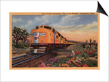 "California - Union Pacific Railroad ""City of Los Angeles"" Train Prints by  Lantern Press"