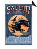Salem, Massachusetts - Witch Art by  Lantern Press