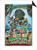 Huntington Beach, California - Alien Attack Horror Poster by  Lantern Press