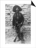Volunteer Mexican Soldier with Rifle Photograph - Mexico Posters