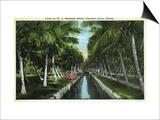 Miami, Florida - W J Matheson Estate Canal Scene at Coconut Grove Posters by  Lantern Press