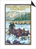 Poudre Canyon, Colorado - Rafting Posters
