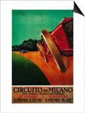 Circuito Di Milano Vintage Poster - Europe Posters by  Lantern Press