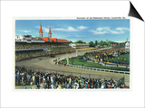Louisville, Kentucky - General View of Crowds at the Kentucky Derby, c.1939 Poster by  Lantern Press