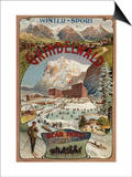 Grindelwald, Switzerland - View of the Bear Hotel Promotional Poster Poster by  Lantern Press