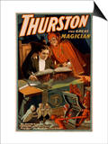 Thurston the Great Magician with Devil Magic Poster Posters by  Lantern Press
