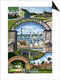 St. Augustine, Florida - Montage Scenes Posters by  Lantern Press