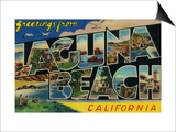 Laguna Beach, California - Large Letter Scenes Posters by  Lantern Press
