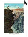 Grand Canyon Nat'l Park, Arizona - Plateau Point and Colorado River Posters by  Lantern Press
