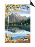 Long's Peak and Bear Lake - Rocky Mountain National Park Prints by  Lantern Press