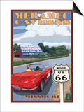 Meramec Caverns, Missouri - Route 66 and Barn Posters by  Lantern Press
