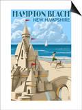Hampton Beach, New Hampshire - Sand Castle Posters by  Lantern Press