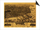 Pensacola, Florida - Panoramic Map Posters by  Lantern Press