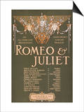 "Shakepeare's Sublime Tragedy ""Romeo & Juliet"" Poster Posters by  Lantern Press"
