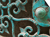 Ornate Metal Gate with Doorknob Prints