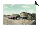 Altoona, Pennsylvania - Logan House and Pa Railroad Station Views Posters by  Lantern Press