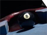 8 Ball by Corner Pocket of Billiard Table Art