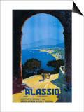 Alassio, Italy - West Italian Riviera Travel Poster - Alassio, Italy Poster