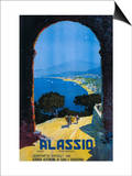 Alassio, Italy - West Italian Riviera Travel Poster - Alassio, Italy Poster by  Lantern Press