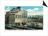 Wilkes-Barre, Pennsylvania - Trains at Lehigh and Wilkes-Barre Coal Company Prints by  Lantern Press