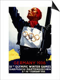 Bavaria, Germany - 1936 Olympic Winter Games Advertisement Poster Posters by  Lantern Press