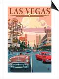 Las Vegas Old Strip Scene Posters by  Lantern Press