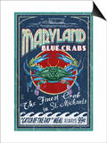 Blue Crabs - St. Michaels, Maryland Prints by  Lantern Press