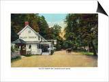 Philadelphia, Pennsylvania - Valley Green Inn, Wissahickon Drive Scene Prints by  Lantern Press