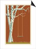 Birch Tree Print by  Lantern Press