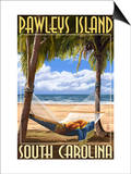 Pawleys Island, South Carolina - Palms and Hammock Posters by  Lantern Press