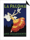 Spain - La Paloma - Anis Aguardiente Promotional Poster Print by  Lantern Press