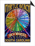 Myrtle Beach, South Carolina - Skywheel Prints by  Lantern Press