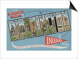 Bloomington, Indiana - Indiana University Print by  Lantern Press