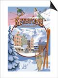 Keystone, Colorado Montage Prints by  Lantern Press
