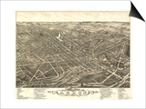 Akron, Ohio - Panoramic Map No. 2 - Akron, OH Posters