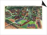 Philadelphia, Pennsylvania - University of Pennsylvania Stadium Aerial Prints by  Lantern Press