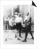 Boxers Marty Cutler and Jack Johnson Photograph Prints by  Lantern Press